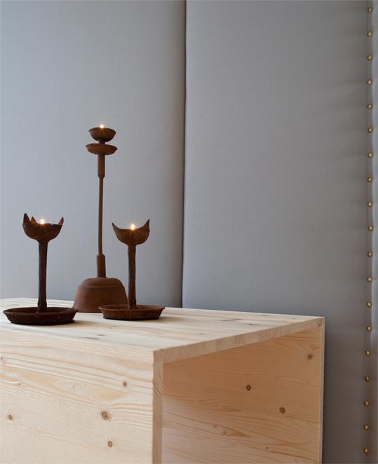 kerzenleuchter, altar, yogalehrer